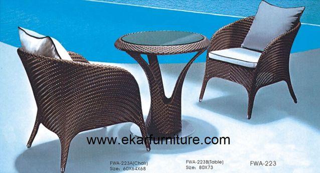 Плетеная садовая диван установлен сад столовая fwa-223/журна.