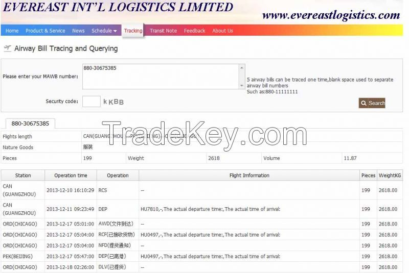 3)air cargo tracking online