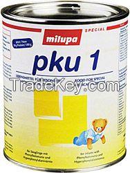 Infant Baby Milk powder, Milupa PKU, Milupa MSUD, Milupa TYR, Milupa HOM, Milupa GA, Milupa OS, Milupa LEU, Milupa LYS, Milupa UCD, Milipa Cystilac, Milupa Low-protein, infant Baby Milk powder all stages, baby milk powder