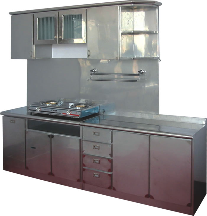 Stainless steel kitchen cabinets tags stainless steel for Metal kitchen cabinets