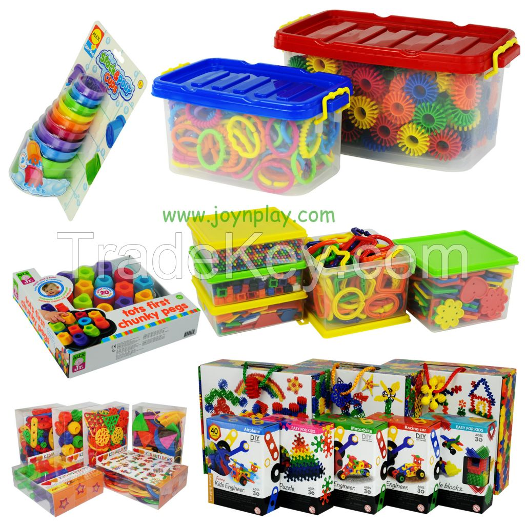 Manipulative Educational Toys : Educational toys school supply building blocks active