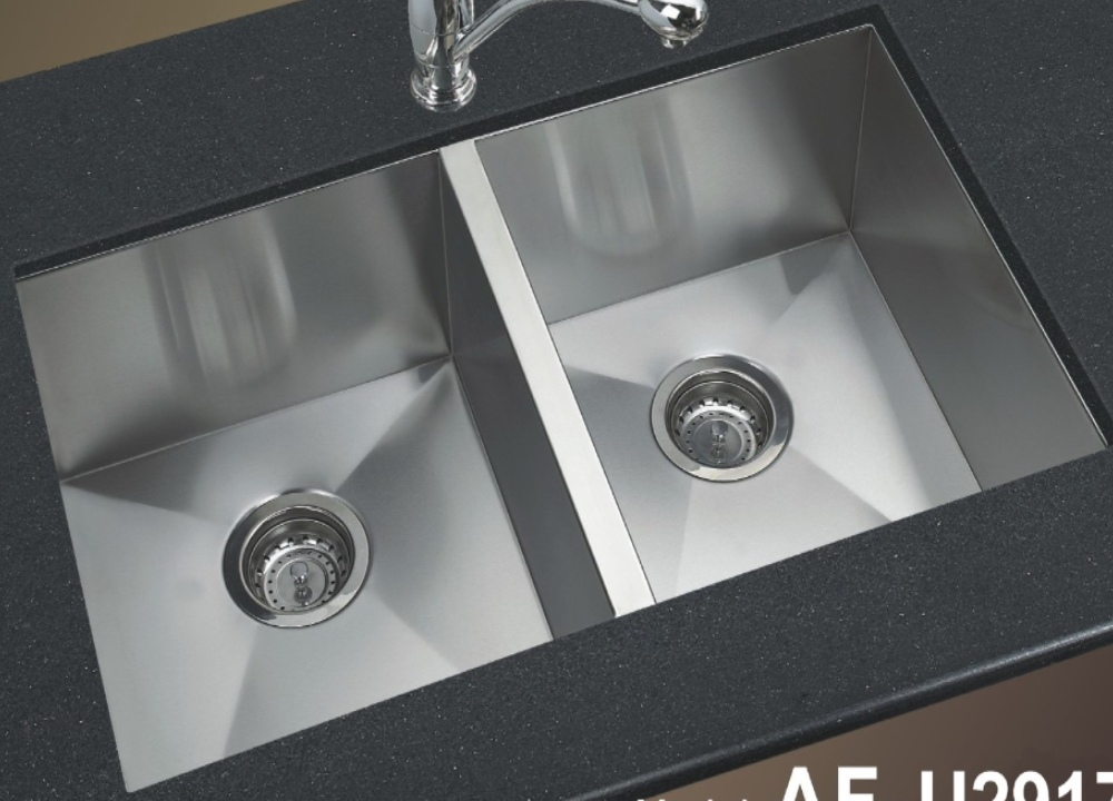 Stainless steel kitchen sink square by afa sinkware canada - Square stainless steel bathroom sink ...