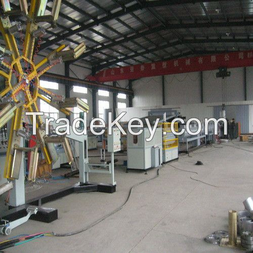 SJRQG-PE Large-caliber Gas and Water-supplying Pipe Extrusion Line