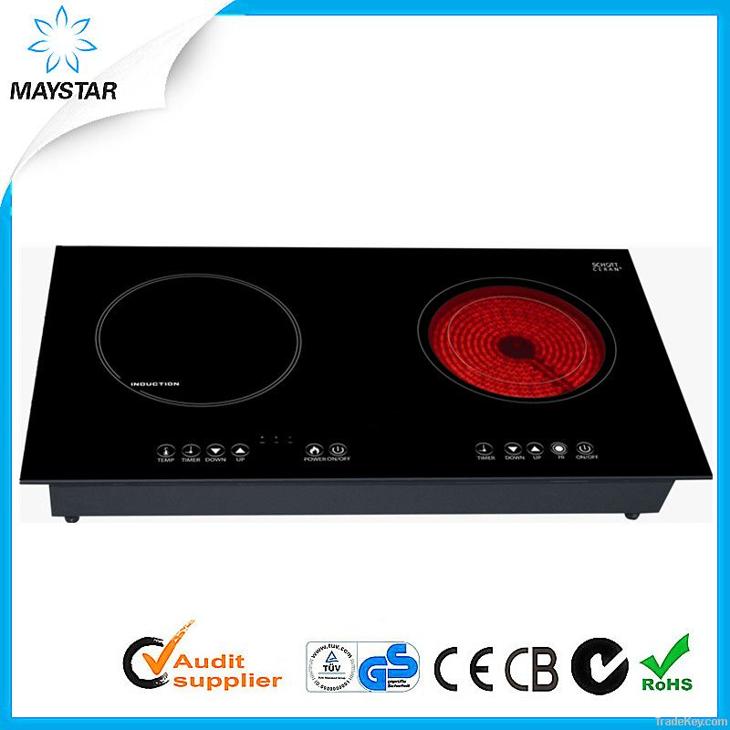 schott ceran and ego double burner induction infrared. Black Bedroom Furniture Sets. Home Design Ideas