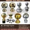 Equestrian brass balls & caps