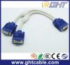 1male to 2 Female Copper VGA dB Cable (30cm)