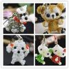 sell cute beaded doll keychain mobile phone charms accessories promoti