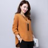 Autumn korean free size long sleeve round neck knitted sweater