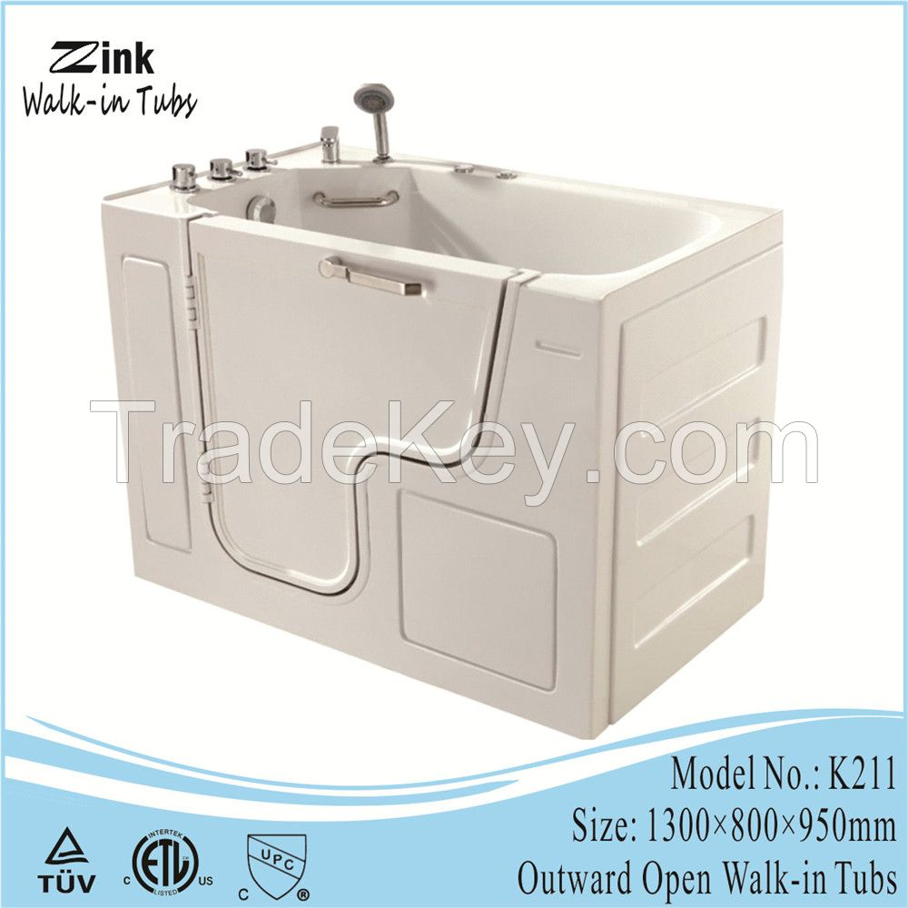 2016 Foshan ZINK Safety Outward Swing Portable Walk In Bathtub For ...