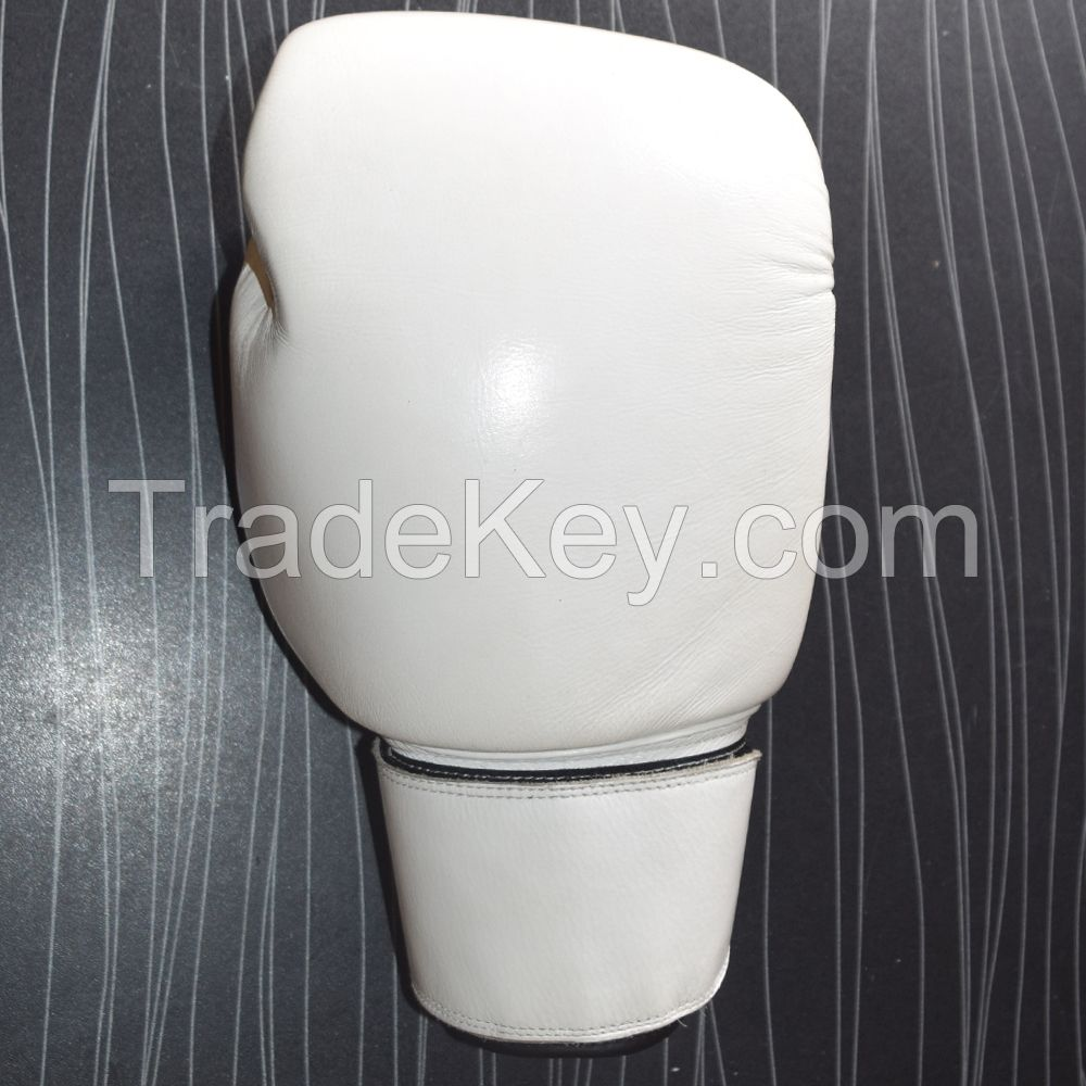 Real White Leather Boxing Gloves Supplier photo and picture