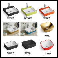 Ceramic Sanitary Ware Bathroom Sink Color Lavatory Basins By Aolitai ...