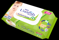 NON-CHEMICAL BABY WET WIPES MADE IN VIETNAM 80 SHEETS